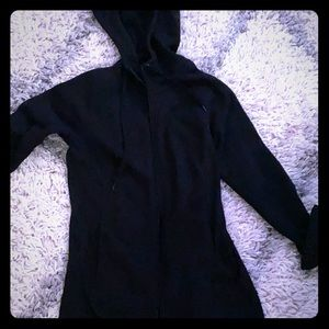 Black zip up sweater